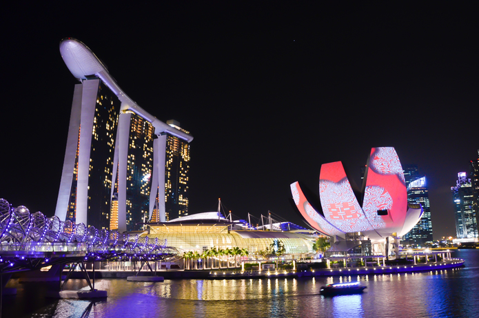 Marina Bay Sands and the ArtScience Museum