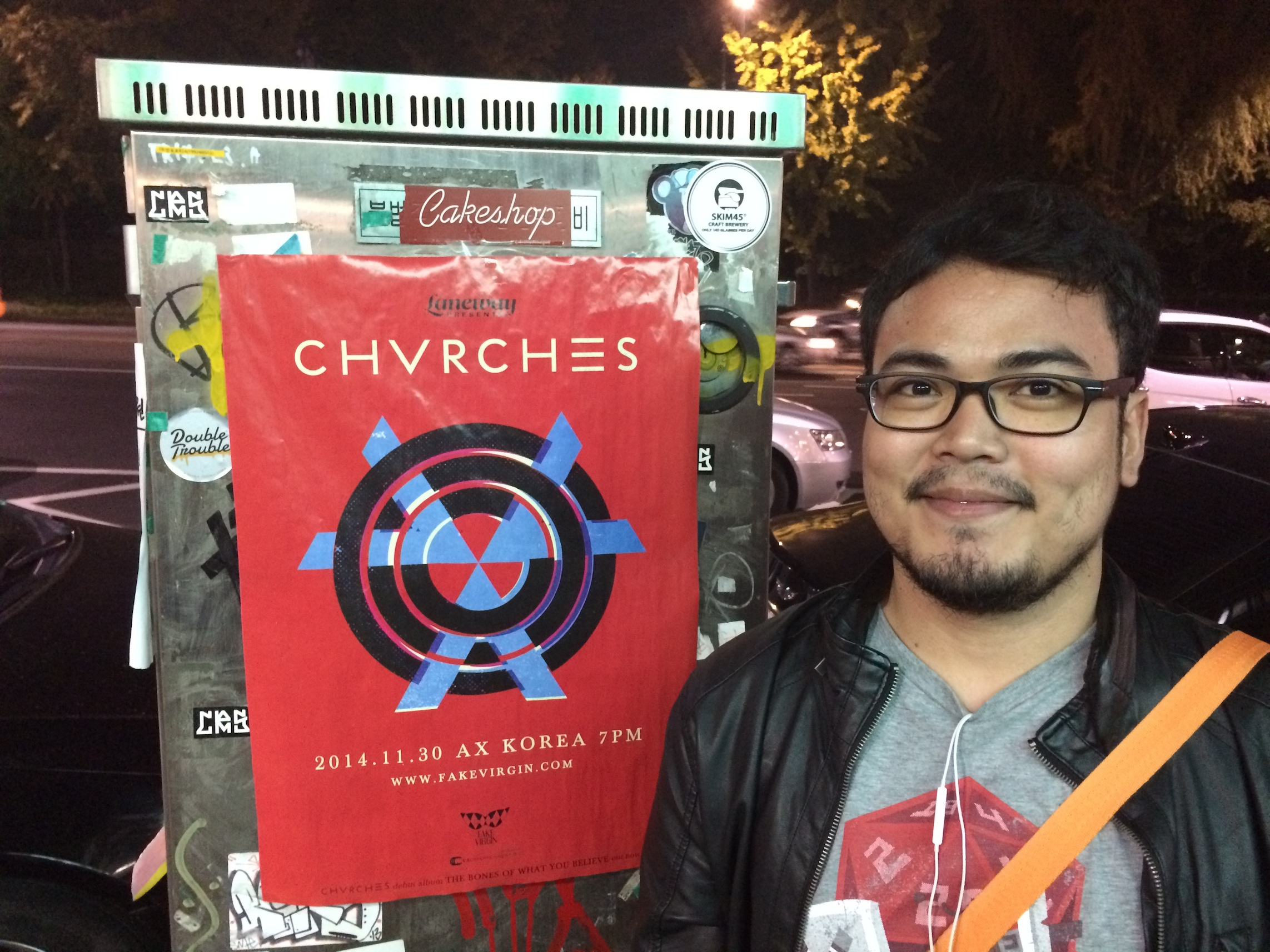 We saw CHVRCHES Asia Tour poster